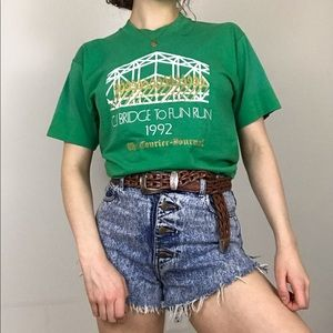 Vintage 1992 Screen Stars Green Single Stitch Tee